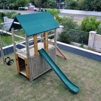 Double deck lookout with kids slide
