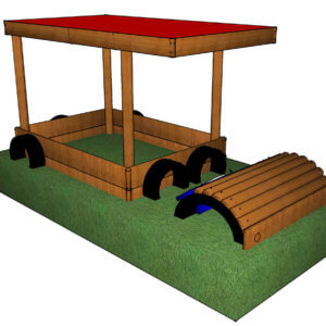 garden play equipment - Sand pit Jeep