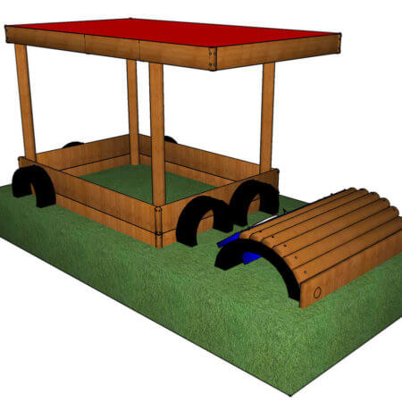 Sand pit for kids for children playtime