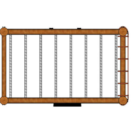 Monkey Bars net top view