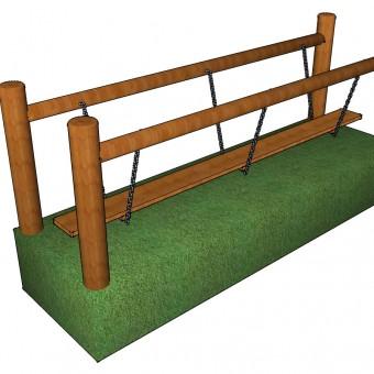 Plank on Chain Bridge