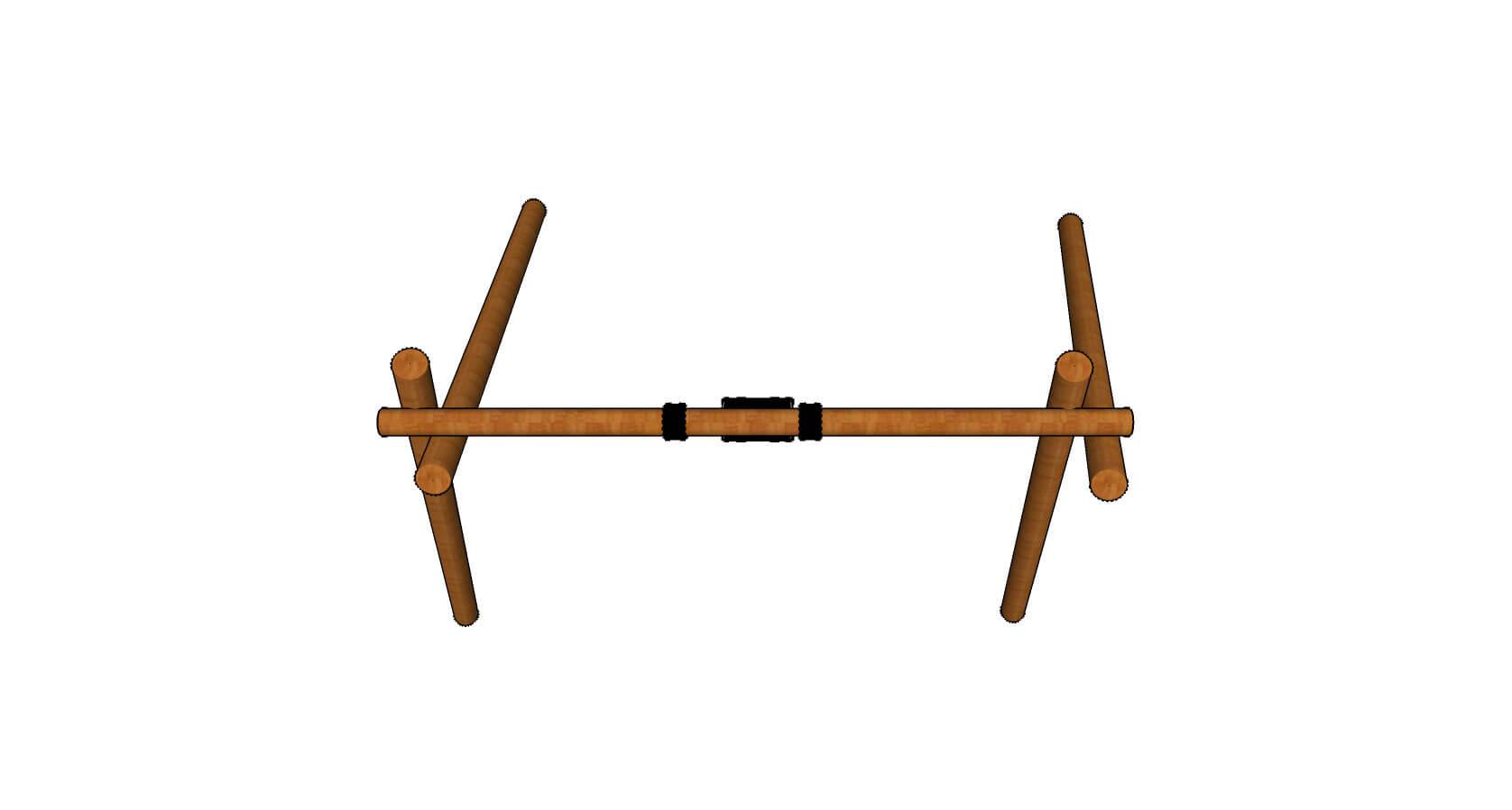 Single Log Swing Topview