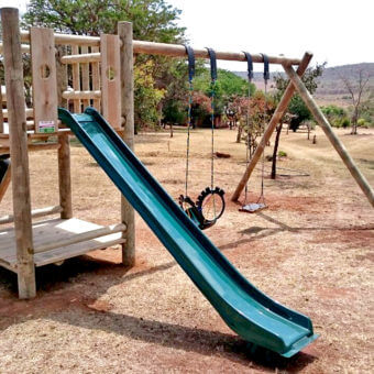 Double Lookout Outdoor Play System