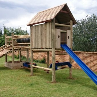 Jungle Gym Wooden House