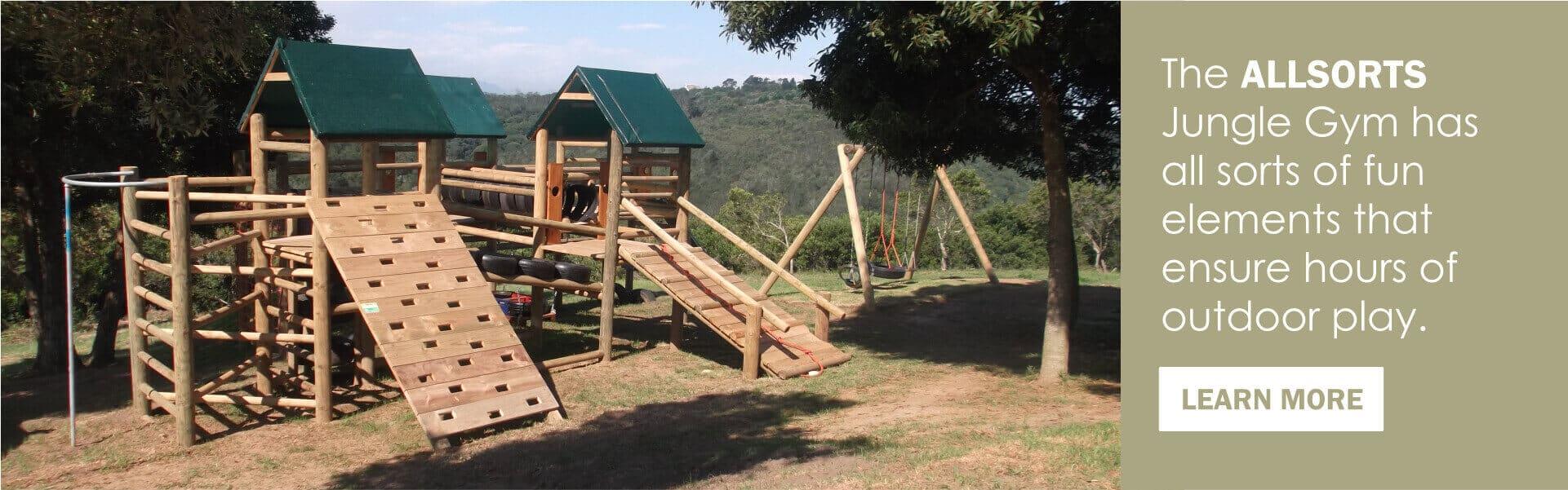 Kids Wooden Jungle Gyms - Kidbuddie
